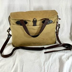 FILSON Tan Canvas and Brown Leather Made in USA